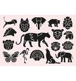 animal symbols set vector image