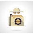 Detective camera flat color icon vector image