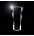 Empty Glass on black vector image