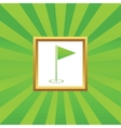 Flagstick picture icon vector image