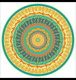 ornament multicolor card with mandala vector image