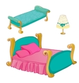 Princess Bedroom Furniture Set vector image