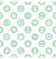 seamless pattern with flat sea elements vector image