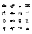 Set of flat icons - holiday travel and tourism vector image