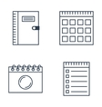 Set of notebook icons vector image
