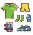 soccer football team uniform set vector image