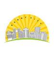 Sunny city Logo for new modern prestigious vector image