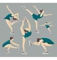 Figure skating set vector image