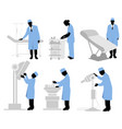 Six doctors set vector image