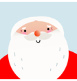 Cute cartoon smiling Santa face for Xmas greeting vector image vector image