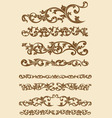 Javanese Vintage Floral Ornament Set vector image