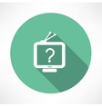 question mark in tv icon vector image vector image