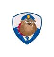 Bulldog Policeman Shield Low Polygon vector image