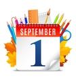 First September Calendar vector image