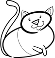 doodle cat for coloring vector image vector image