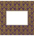 gold frame background vector image vector image
