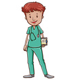 A doctor with a stethoscope vector image