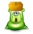 A green monster carrying a box vector image