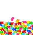 Abstract background made from colorful puzzle piec vector image