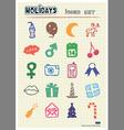 Christmas and other holidays web icons set vector image