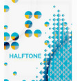 halftone color texture background vector image