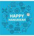 lines background happy hanukkah vector image