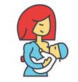 mother breastfeeding baby lactation feeding vector image