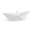Origami paper ship isolated on white background vector image