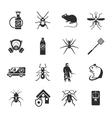 Pest Control Black White Icons Set vector image