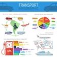 Transport infographic concept set vector image