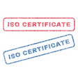 iso certificate textile stamps vector image