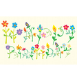 Happy Birthday Floral letters vector image