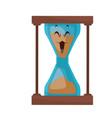 kawaii sand clock time glass cartoon vector image