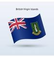 British Virgin Islands flag waving form vector image