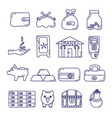 set of money safety vector image