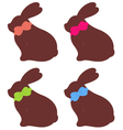 Spring bunnies set isolated on white vector image vector image