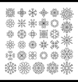 Set of contour linear flowers vector image