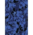 Blue flowers bouquet background vector image