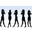 woman silhouette with hand gesture mouth closed vector image
