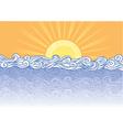 sea waves vector image vector image