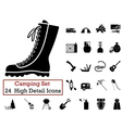 icon set camping vector image vector image