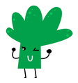 Beautiful Cute healthy Broccoli for kids vector image
