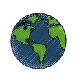 earth planet sphere vector image