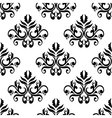 Leaves and tendrils compositions seamless pattern vector image
