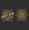 set of labels western style vector image