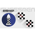 The moves of the chess bishop vector image