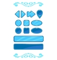 Cute blue game user interface vector image
