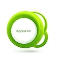 Green eco business emblem vector image