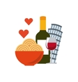 italian culture holidays icon vector image