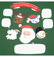 christmas character with speech bubble vector image